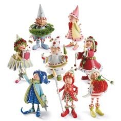 These are just like the things my mom gets me for Christmas.  Patience Brewster Dash Away Elf Characters
