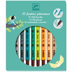 Set 10 rotuladores doble punta colores terciarios - Djeco