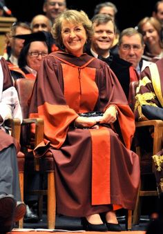 """Princess Margriet of the Netherlands smiles after receiving an Honorary Doctorate of Laws Degree from McMaster University in Hamilton on 16 Nov 2012"""
