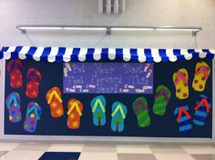 Beach Theme back to school bulletin board