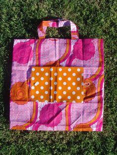 Sac pliable - Duo orange et rose : Etuis, mini sacs par lilanis