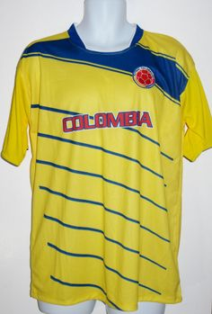 COLOMBIA SOCCER JERSEY T-SHIRT M MEDIUM FOOTBALL WORLD CUP CAMISETA CAMISETA #Drako #soccershirts #soccerjerseys #fifaworldcup #football #soccer #worldcup2014 #colombia #colombiana #colombiasoccer #falcao
