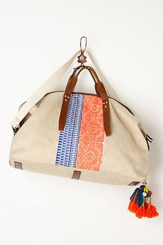 Seville Embroidered Weekender #anthropologie. Oh I wish this didn't cost so much.