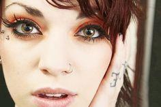 Eyebrow piercing designs30