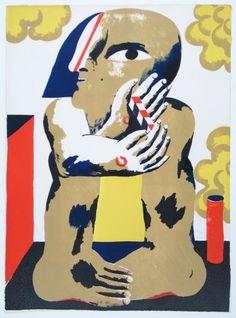 Horst Antes: Männliche Figur mit Massstab, 1967