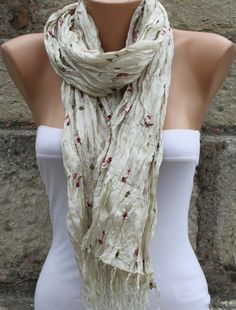 Creamy White   Shawl Scarf  Headband Necklace Cowl / by fatwoman, $19.00