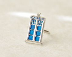 Tardis Ring / Tardis Jewelry / Dr. Who Ring / Dr Who Inspired Tardis Ring / Dr. Who Gift / Tiny Tardis Ring