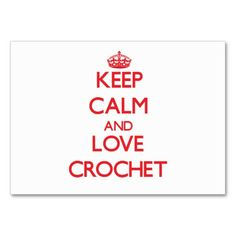 Keep calm and love Crochet Business Card Template
