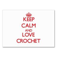Keep calm and love Crochet Business Card Template