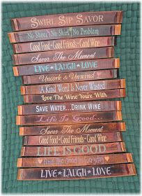 Have Some Fun With Our Wine Stave Decorative Signs They Are The