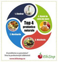 Probioticele sunt niște superbacterii care fac minuni în corpul nostru. În lipsa lor, ne putem confrunta cu afecțiuni digestive, probleme ale pielii, candidoză, boli autoimune și răceli frecvente. Iată 4 probiotice naturale din care să-ți faci aliați de nădejde în fiecare zi.  #probiotice #dieta #alimente #digestie #imunitate