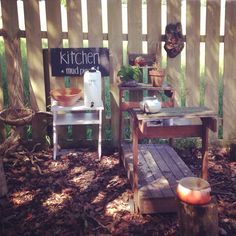 Our whimsical mud kitchen - Nurtured Learning Family Day Care