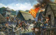 Las tropas de César asaltan una ciudad gala repleta de insurrectos, por Christian Jégou. Más en www.elgrancapitan.org/foro