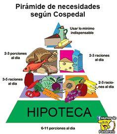 Pirámide de necesidades según María Dolores de Cospedal.  Síguenos en Facebook: http://facebook.com/HumorDePandereta