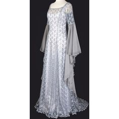 488 Mythril Gown ($500) ❤ liked on Polyvore featuring dresses, gowns, medieval, medieval gown, brides dresses, gothic gowns, bohemian evening gowns, gothic bridal gowns and bohemian gowns
