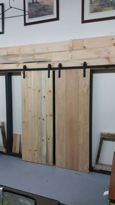 Hot Exclusive! Custom, locally made Barn Doors! Now on display in our ‪#‎owensound‬ store. Here's a sneak peak!