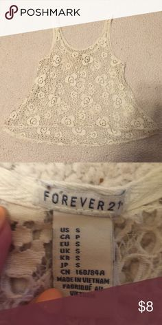 🌞 Crochet top Small off- white crochet top from forever 21 Forever 21 Tops Tank Tops