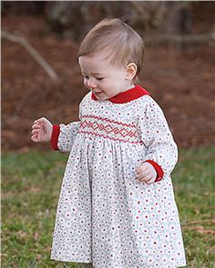 Sarah louise girls long sleeved ivory grey red floral dress 8644