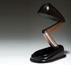 """Lucidus bloc"" Table light by Jumo, Bakelite, Streamline, 1945"