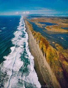 Coastline (aerial), Cape Yakutat, Wrangell-St. Elias National Park, Alaska