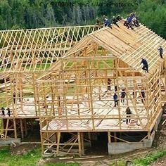 One Days Work Iv Barnraising Arched Barn Summer Amish
