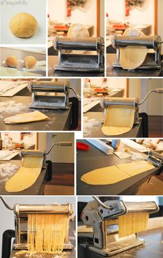 A beautiful image of pasta-making! Noodle Recipes, Pasta Recipes, Fresco, Food Bulletin Boards, Pasta Casera, How To Make Dough, Salty Foods, Italy Food, Kitchen Must Haves