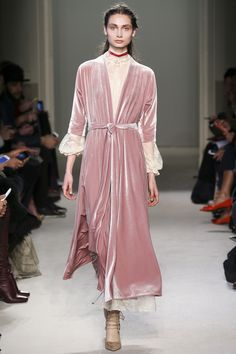 Love this Mauve Velvet Dress with Linen Under Dress by Luisa Beccaria, Look #15