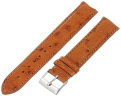 Swiss Watch International 18 MM Cognac Genuine Ostrich Strap 18DA03M