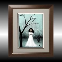 I Will Be Your Light  Melancholy Girl  Art Print  by RusticGoth