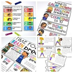 Self-Regulation, Self-Control & Self-Esteem... by Proud to be Primary | Teachers Pay Teachers Therapy Activities, Writing Activities, Play Therapy, Social Emotional Learning, Social Skills, School Behavior Chart, Social Work Offices, Calm Down Kit, Calm Down Corner