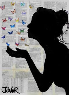 Loui Jover ~ Silhouette Drawing. Love this!
