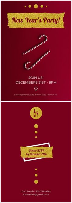 Red New Year Invitation Template This red New Year Invitation template is perfe. Red New Year Invitation Template This red New Year Invitation template is perfect for any festive Best Templates, Card Templates, Pizza Wedding, Online Cards, Event Banner, New Years Party, Invitation Design, Birthday Invitations, Wedding Events