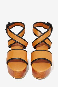Shakuhachi Asuri Leather Flatform - Platforms | Shoes | All | Shakuhachi | Shoes