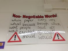 These words are 'non negotiable' and ALWAYS have to be spelt correctly. It works too! Classroom Displays, Learning Environments, Words, Paper, Creative, Classroom Decor, Horse