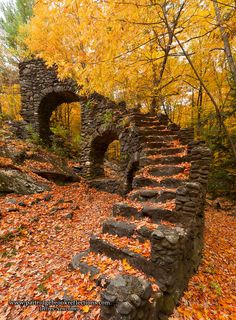 """""""Staircase To The Remnants of Madame Sherri's Castle"""", West Chesterfield, New Hampshire Beautiful World, Beautiful Places, Beautiful Pictures, Nature Landscape, Autumn Scenery, Nature Aesthetic, Abandoned Places, Haunted Places, Beautiful Landscapes"""