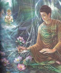 Process of Perception as Described by the Buddha. Proto Buddhism - The Original Teachings of the Buddha By Venerable Dr. Art Buddha, Buddha Lotus, Buddha Life, Buddha Painting, Buddha Buddhism, Buddha Flower, Buddha Wisdom, Image Zen, Lotus Wallpaper