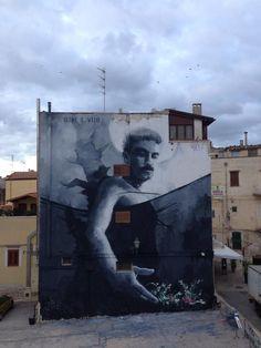 """New mural by Luis Gomez de Teran - """"Oltre il velo"""" - Corato, Bari - Verso Sud (IT) - Sept 2015"""