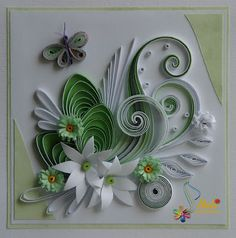 Neli Quilling Art: Preparation for Easter Holidays - 3 Quilling Work, Paper Quilling Flowers, Neli Quilling, Quilling Paper Craft, Quilling Patterns, Quilling Designs, Paper Crafts Wedding, Craft Wedding, Origami