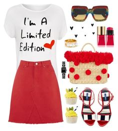 """I´m a limited edition"" by hamaly ❤ liked on Polyvore featuring Dolce&Gabbana, WearAll, Nannacay, Gucci, Chloé, Yves Saint Laurent, outfit, ootd, trends and denimskirt"