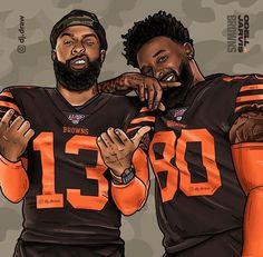 Cleveland Browns Wallpaper, Cleveland Browns Football, Nfl Football Players, Football Art, Odell Beckham Jr Wallpapers, Oklahoma Sooners Football, Oakland Raiders Logo, Nfl Photos, Football Design