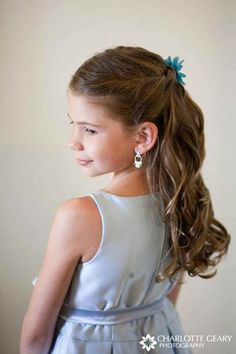 Young girl's wedding style, long hair 227cruz.com   408.395.1130 227 N. Santa Cruz Ave   Los Gatos   Ca #hairstyles #227cruz #girlsweddinghair #girlshairstyle