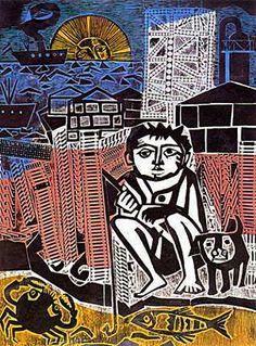 Antonio Berni. Temas: Grabados 1/4 Arte Latina, Examples Of Art, Indie Art, Scratchboard, Unusual Art, Arte Popular, Wood Engraving, Woodblock Print, Love Art