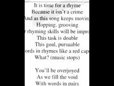 """Music video clip for the song """"Rhyming Song"""" from the CD """"Grammar Jams by two-time Canadian Music artist of the year winner Etienne. This is the song teac. All Songs, Video Clip, Grammar, Music Videos, Lyrics, Cards Against Humanity, English, Youtube, English Language"""