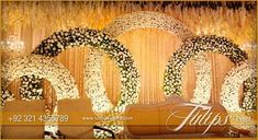 Theme Stage Setup design ideas in Pakistan Golden rings Pakistani Wedding Theme decoration stage setup. Theme design and…Golden rings Pakistani Wedding Theme decoration stage setup. Theme design and… Wedding Hall Decorations, Wedding Reception Backdrop, Marriage Decoration, Engagement Decorations, Wedding Mandap, Backdrop Decorations, Wedding Vows, Backdrop Ideas, Stage Backdrops