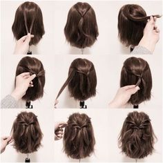 15 Möglichkeiten, Ihre Lobs zu stylen (Long Bob Frisur Ideen) – Frisuren - New Site 15 maneiras de estilizar seus penteados (idéias de penteado longo Bob) - hairstyles Braids For Short Hair, Long Ponytails, Twisted Ponytail, Easy Hairstyles For Short Hair, Bob Hairstyles How To Style, Long Bob Updo, Hairstyles For Bobs, Short Hair Dos, Ponytail Hairstyles