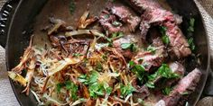 Whiskey-Glazed Steak with Shoestring Potatoes Recipe