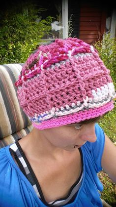 Hey, I found this really awesome Etsy listing at https://www.etsy.com/listing/472990611/ooak-scrappy-crochet-windowpane-beanie
