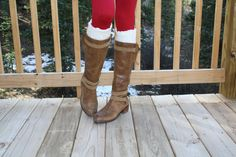 Off white knit lace boot cuffs  Super Adorable Double Button Boot Cuffs ~ Boot Toppers.    These fit like a sock except you can wear your own