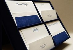 Gorgeous box of hand-letterpressed stationery, includes 4 different styles of notecards (100 cards + envelopes) $180
