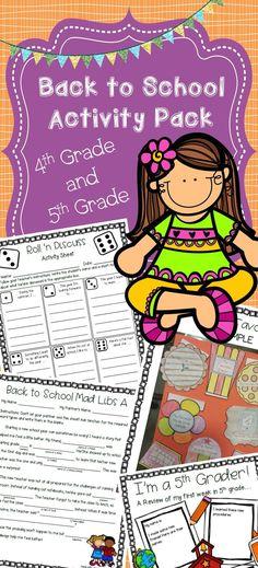 Are you looking for original, engaging activities to use with your new fourth or fifth grade students? This activity pack is perfect for you! I created these activities because I wanted some fresh activities to use. I was tired of greeting my students with the same old stuff!